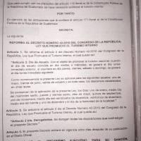 acuerdo por cambios de tres asuetos