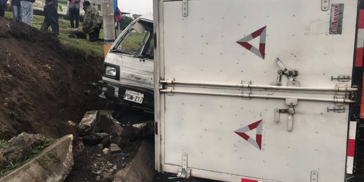 Se registra accidente de tránsito en la Panamericana Sur