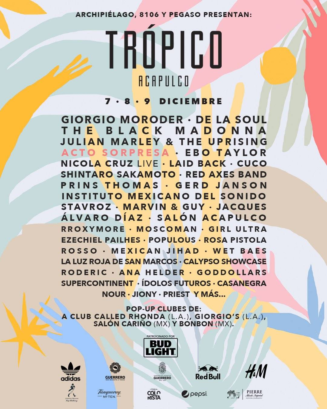 Festival Trópico 2018, se realizará el 7, 8 y 9 de diciembre