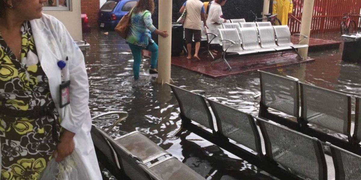 Se inunda Hospital Materno Infantil de Ticomán tras intensa lluvia