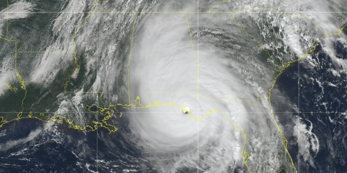 Primeras imágenes del huracán Michael tocando tierra en Florida