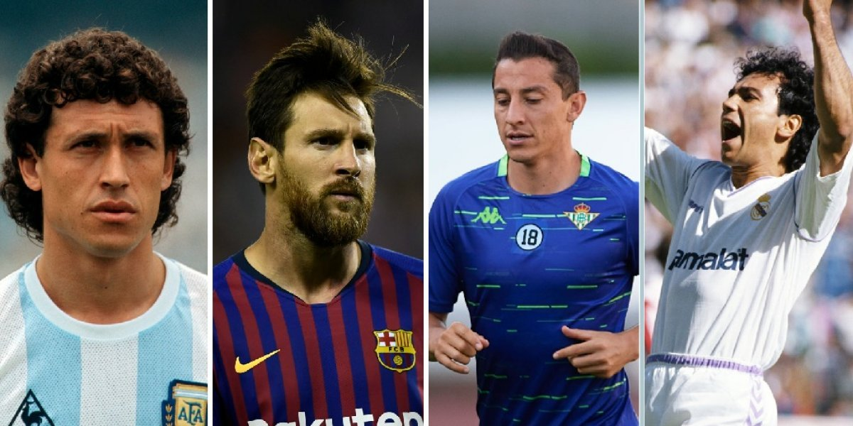 Leyendas y estrellas latinoamericanas de la Liga española