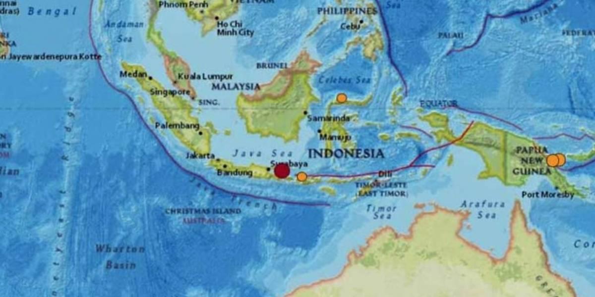 Varios muertos y heridos tras sismo en Indonesia