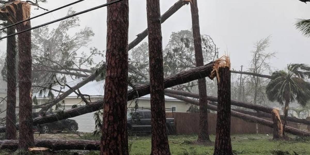 Huracán Michael deja sin electricidad a más de 388,000 hogares en Florida