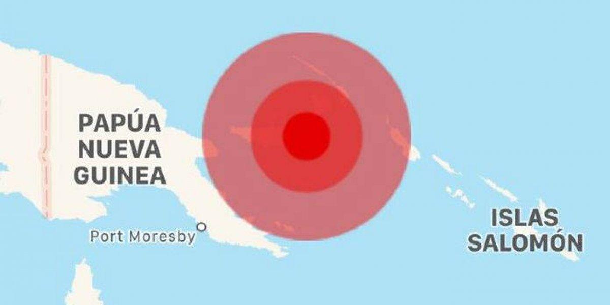 Activan alerta de tsunami tras sismo en Papúa Nueva Guinea