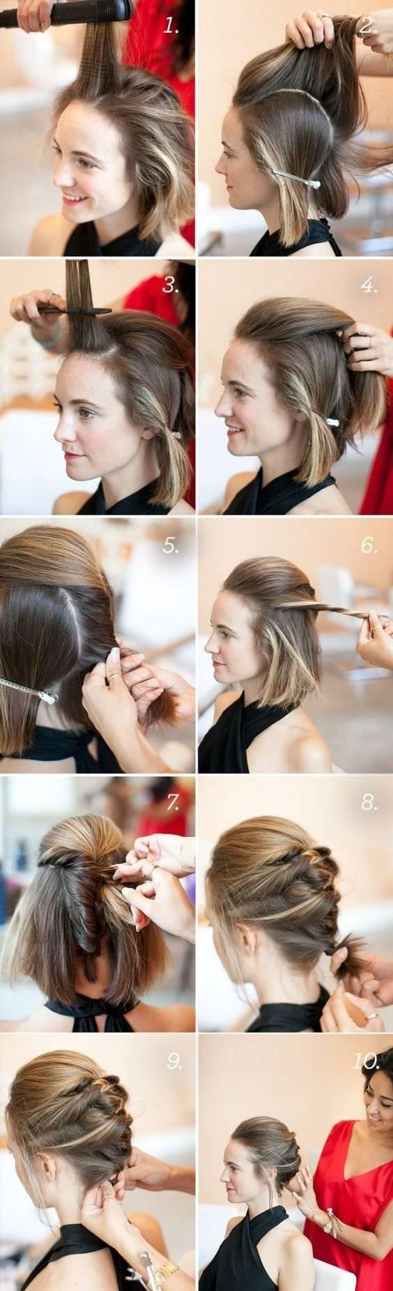 Peinados de noche para cabello corto