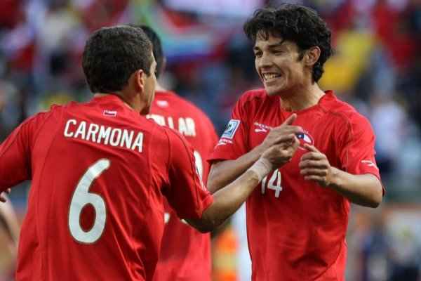 Carmona y Matías en sus tiempos juntos en la Roja / imagen: Photosport