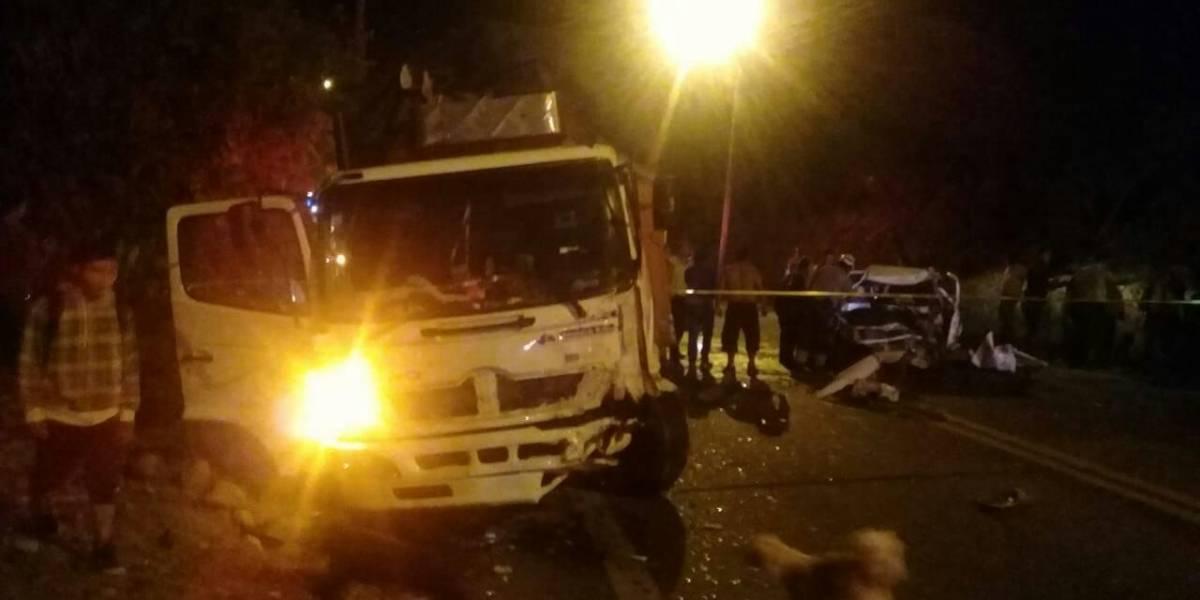 Dos personas fallecieron en un accidente en Pastaza, vía a Macas