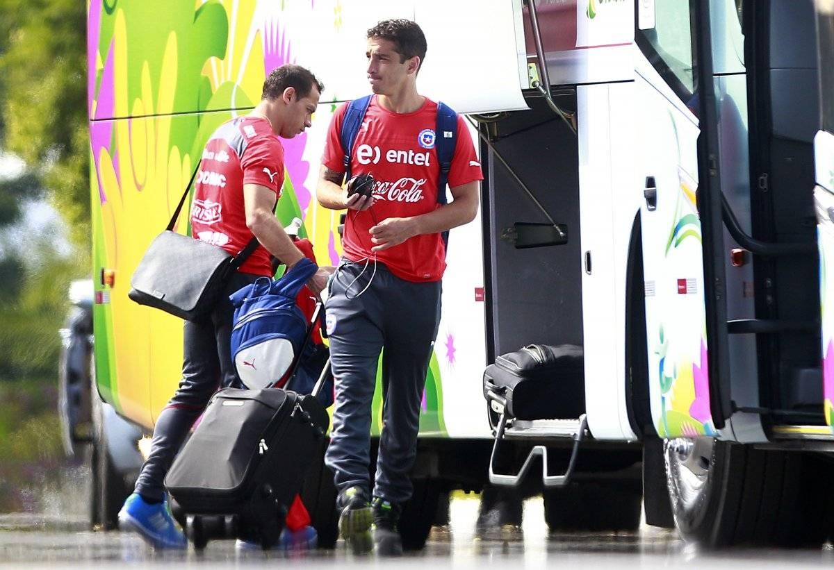 Carmona y Díaz, dos que ya no están en la Roja / imagen: Agencia UNO