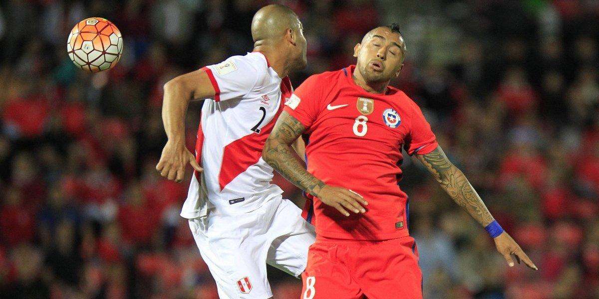 """A Vidal le recordaron el polémico rayado en el Nacional de Lima: """"No fui yo y no diría quién fue"""""""