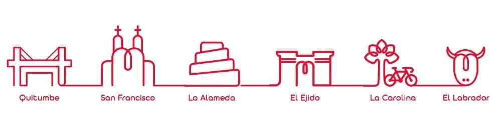 Logos paradas Metro de Quito
