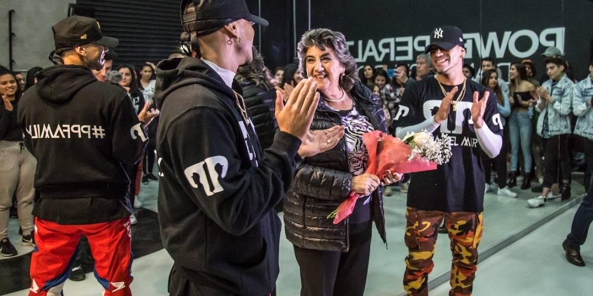 Power Peralta se lucen bailando con la tía Coty e inauguran nueva sede de su academia