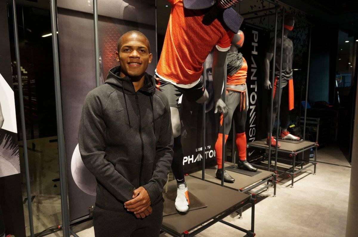 César Munder fue uno de los rostros de Nike en el lanzamiento del nuevo zapato Phantom en Chile / Foto: Nike