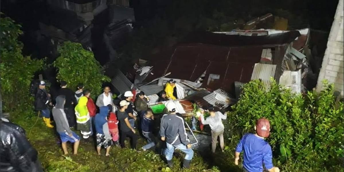 Derrumbe en Marquetalia deja 10 muertos y múltiples desaparecidos