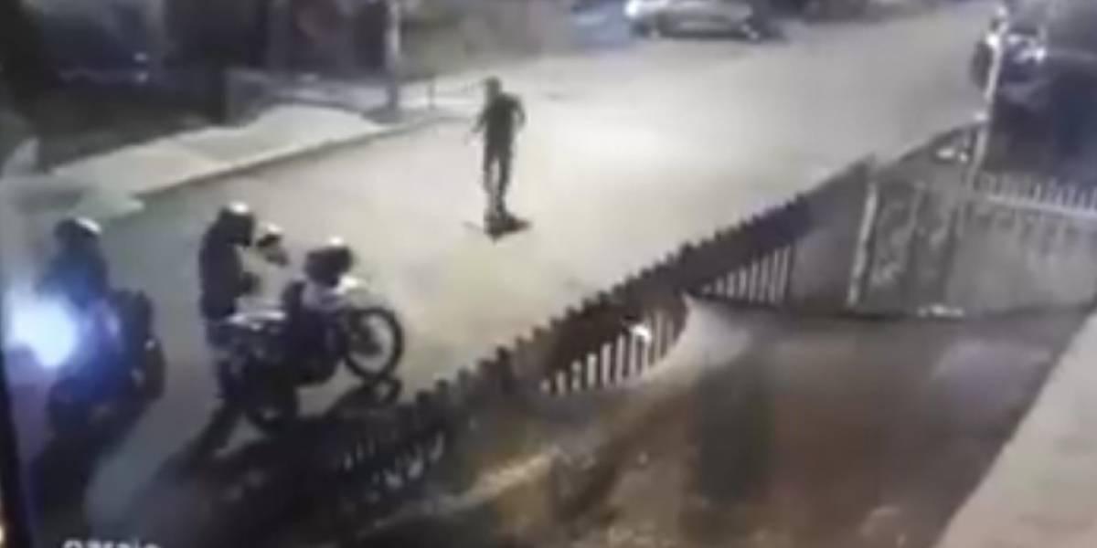 Captan momento exacto en que asesinan a jefe de seguridad de Dilian Francisca Toro