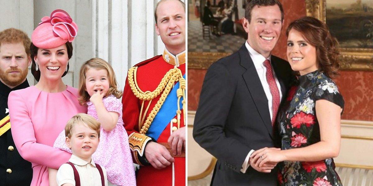 Filhos de Kate Middleton terão papel importante no casamento da princesa Eugenie