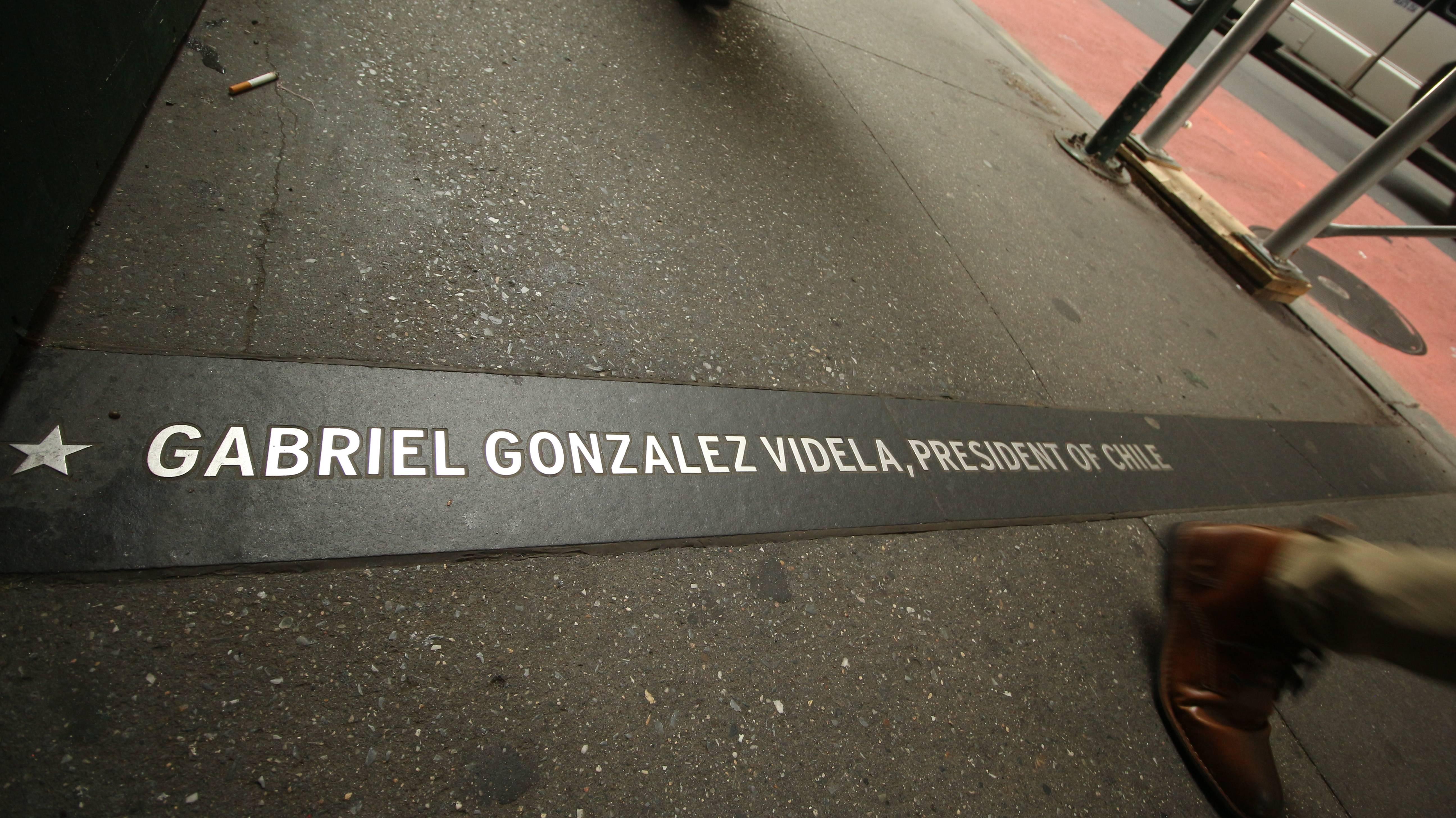 Chile: ¿Qué? A un costado de Wall Street se recuerda a un presidente chileno