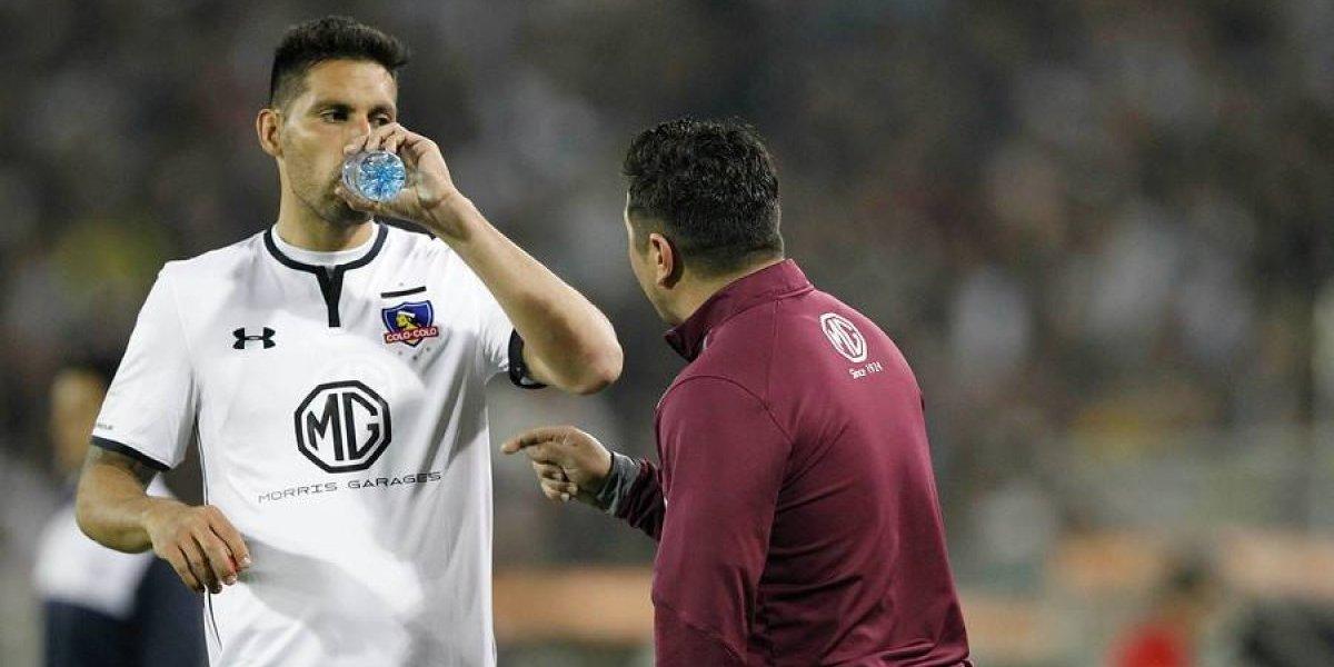 """La explicación de Insaurralde a la crisis de Colo Colo: """"Cuando el técnico decidió rotar, el equipo no fue el mismo"""""""