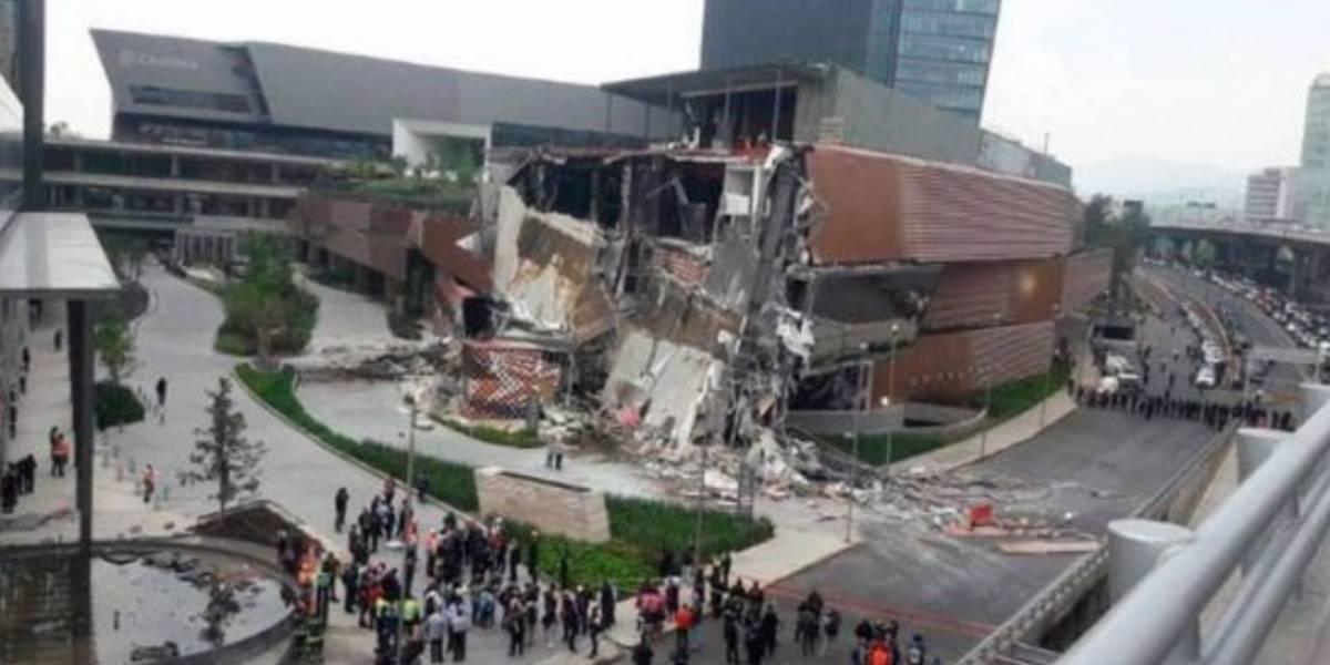 Mueren 7 personas en derrumbe de centro comercial en México