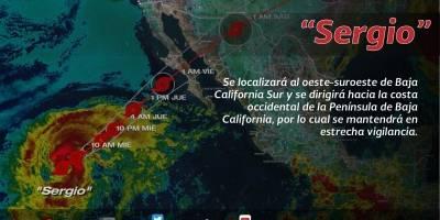 Tormenta tropical Sergio y frente frío 5 provocarán lluvias en el país