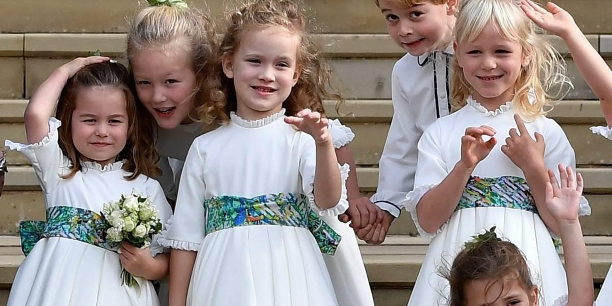 As fotos mais fofas dos filhos de Kate Middleton no casamento de Eugenie