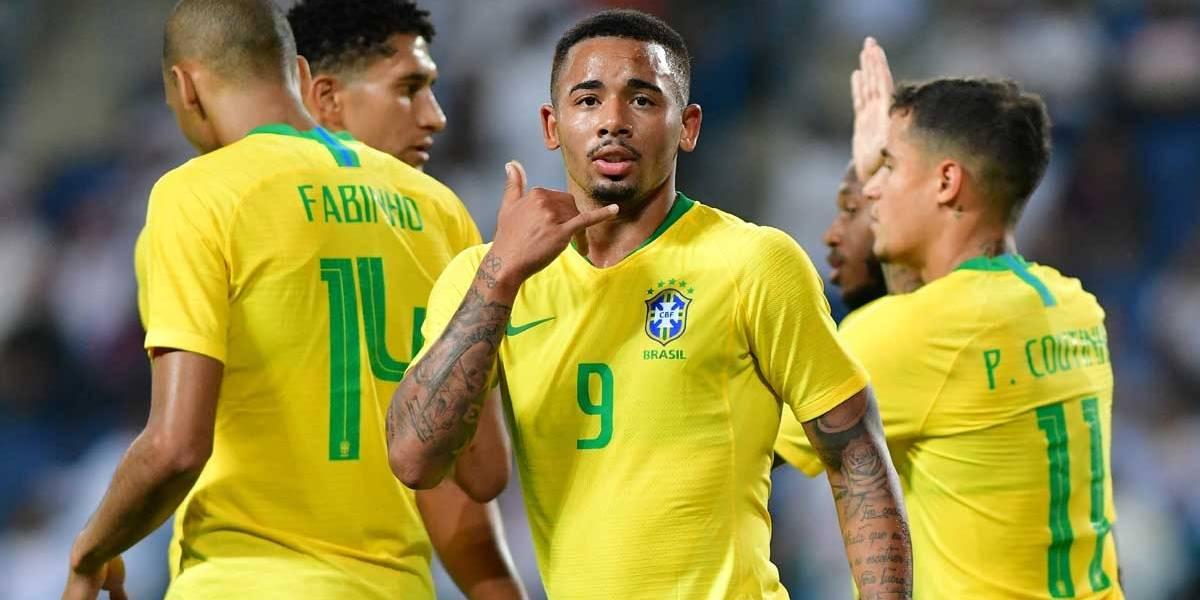 Sem brilho, Brasil vê Jesus desencantar e vence amistoso com a Arábia Saudita