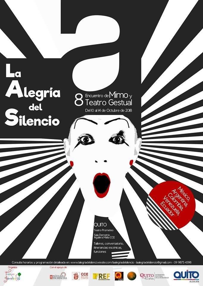 """el 8vo Encuentro de Mimo y Teatro Gestual """"La Alegría del Silencio""""."""