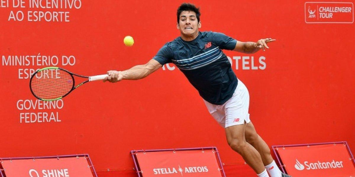 Un notable Christian Garín sigue en racha y eliminó al experimentado Carlos Berlocq para clasificar a la final en Santo Domingo