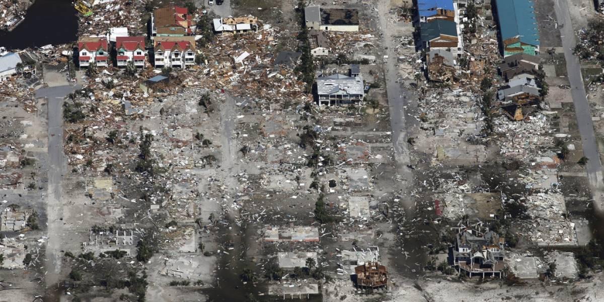 Antes y después tras la destrucción del Huracán Michael en Florida