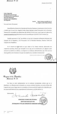 diputado Linares Beltranena pide destitución del PDH Jordán Rodas