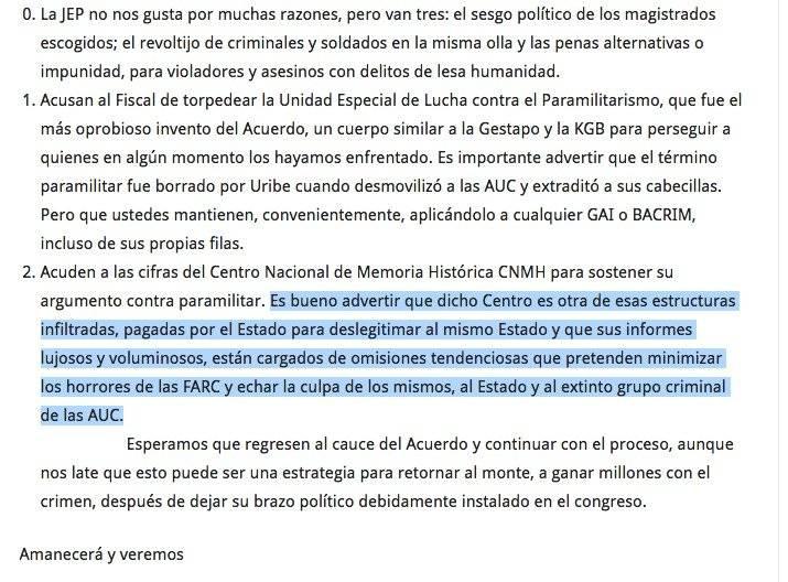 Columna director del Centro de Memoria Histórica