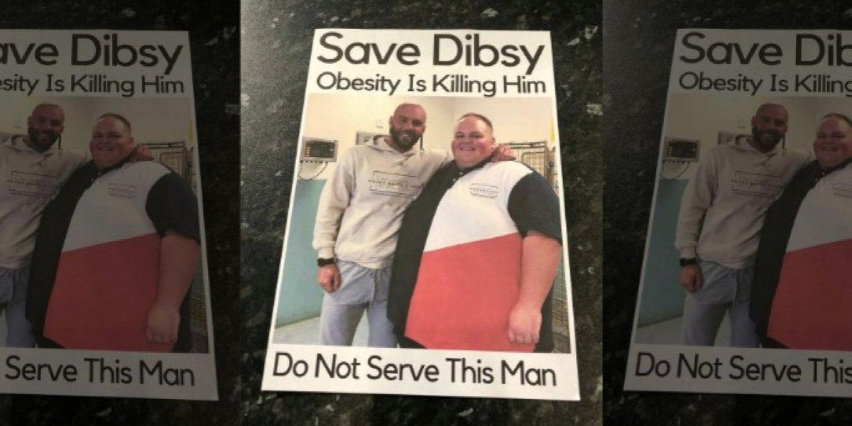 """""""Por favor no alimente al obeso"""": la """"cruel"""" campaña que ideó un entrenador para salvar la vida de su cliente"""