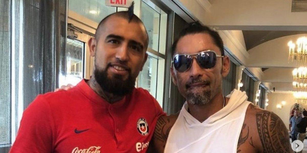 Apoyo de número uno: el Chino Ríos visitó a la Roja en Miami antes del amistoso con Perú