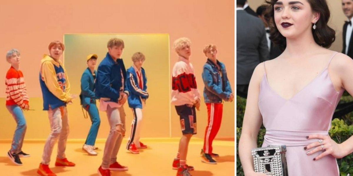 Aficionada pelo BTS, Maisie Williams participa de show da boy band em Londres