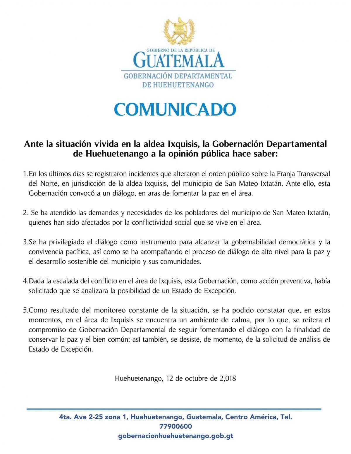 Gobernación Huehuetenango