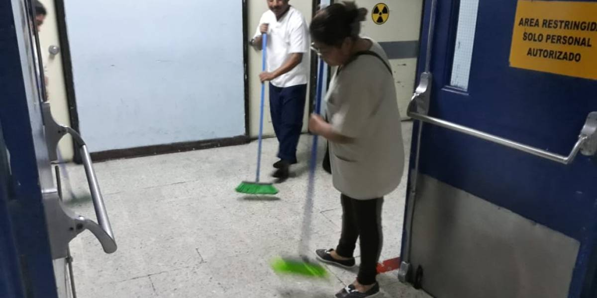 VIDEO. Sistema de distribución de agua del Hospital General es dañado por sismo