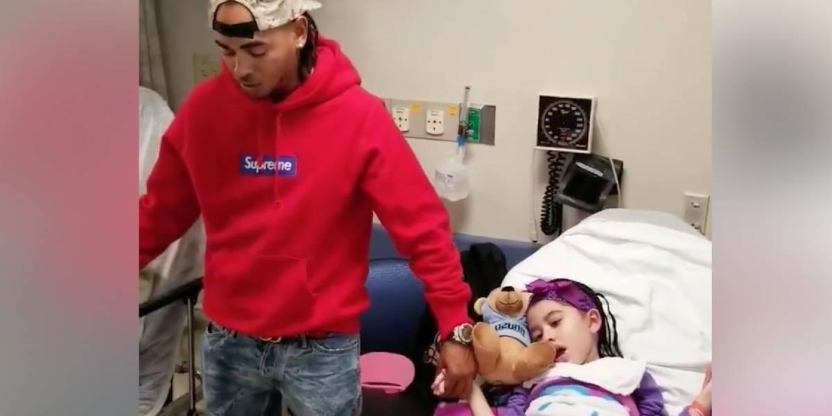 Ozuna ora por pacientes con cáncer y conmueve a sus fans