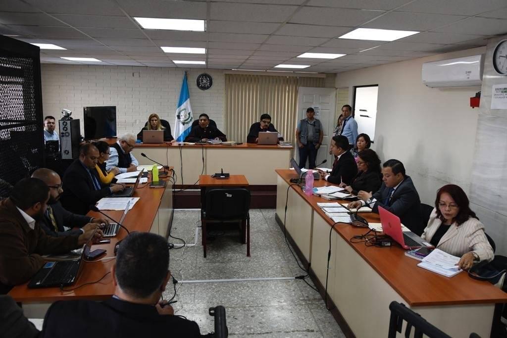 """Audiencia del caso """"Amatitlán"""". Foto: Omar Solís"""