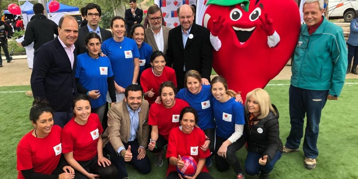 Sistema Elige Vivir Sano tomó con energía y alegría los parques de la Región Metropolitana