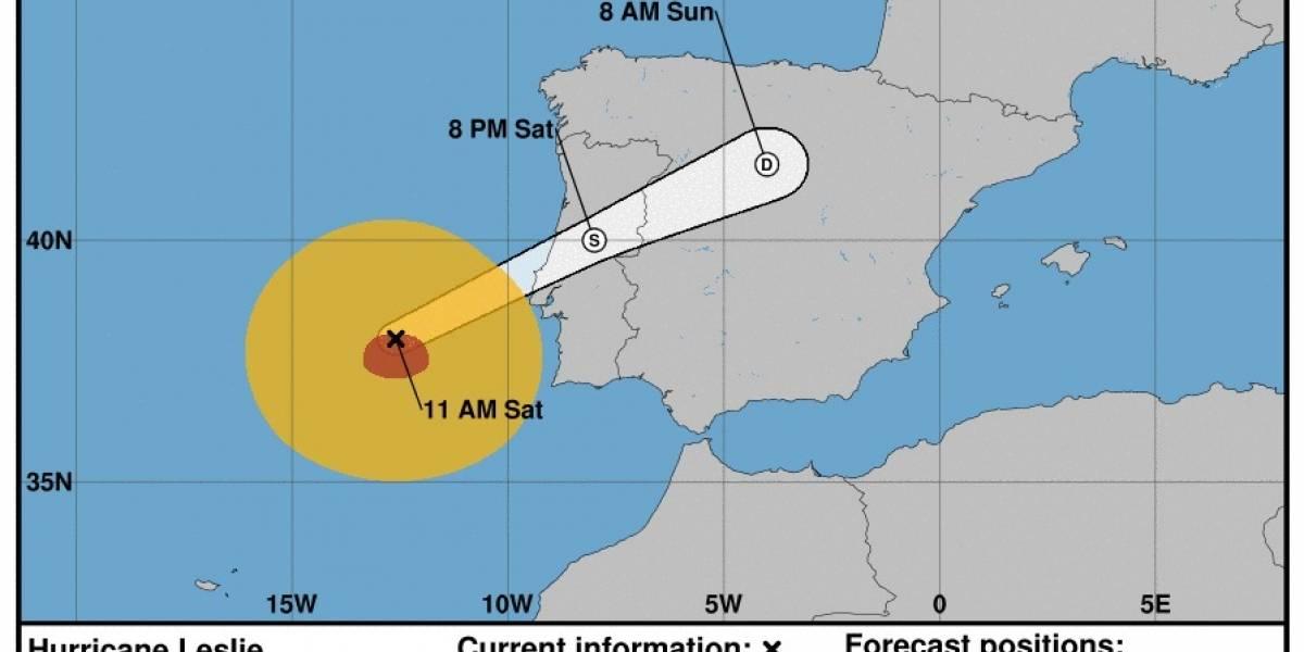 Huracán Leslie avanza rápidamente hacia Portugal y España