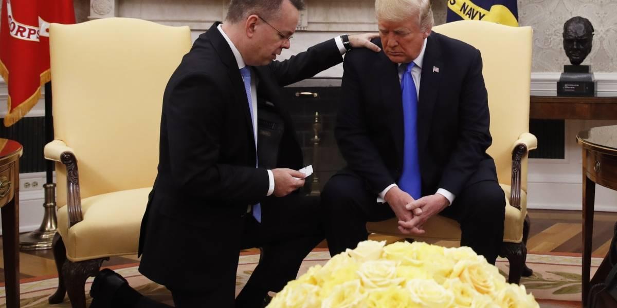 """Pastor liberado por Turquía pide a Dios """"sabiduría sobrenatural"""" para Trump"""