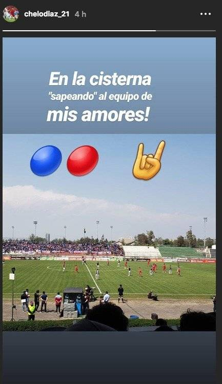 """El volante fue a """"sapear"""" a la U / imagen: Instagram Marcelo Díaz"""