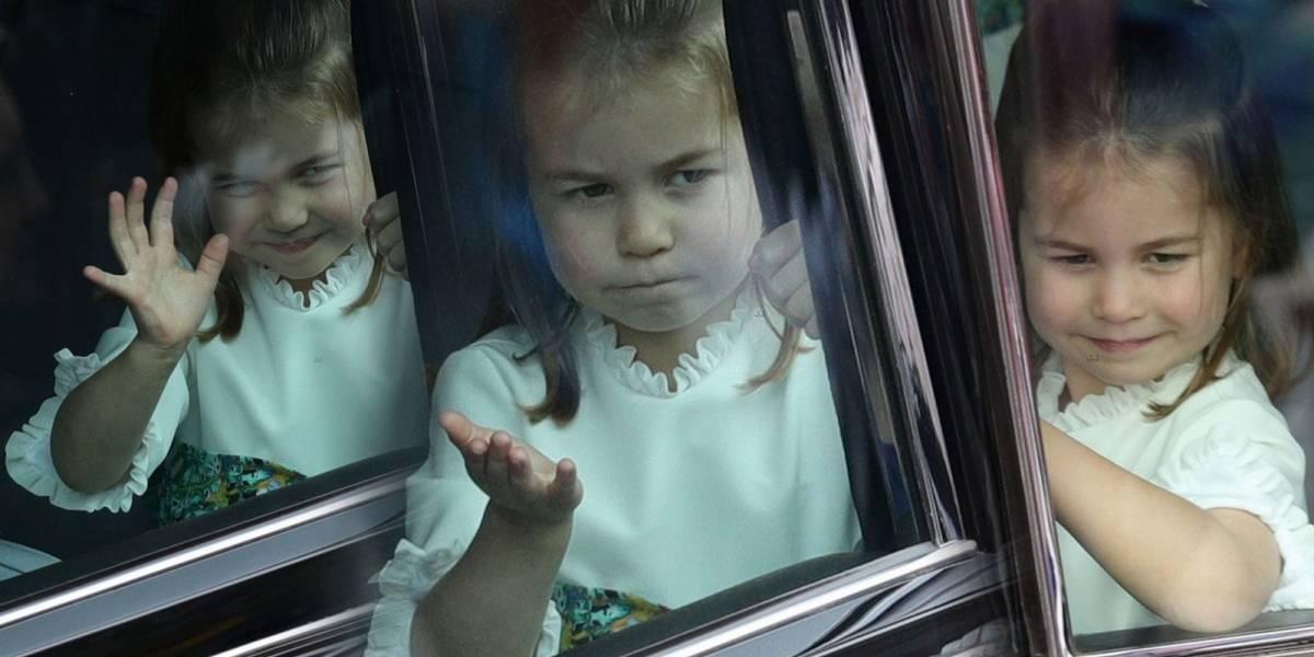 Las graciosas caras de la Princesa Charlotte que hicieron delirar a los paparazzis en la Boda de la Princesa Eugenia