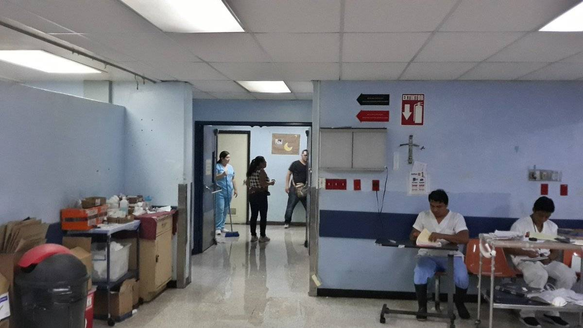 Daños. Foto: Hospital General