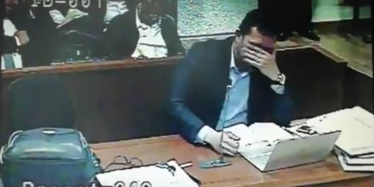 Fiscal estalló en plena audiencia y estuvo a punto de llorar