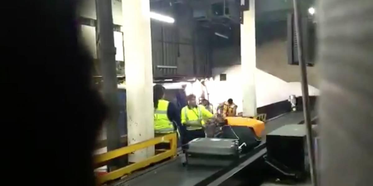 Denuncian maltrato de equipaje frágil dentro del AICM