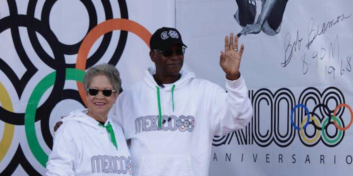 Bob Beamon es inmortalizado a 50 años de los Juegos Olímpicos de México