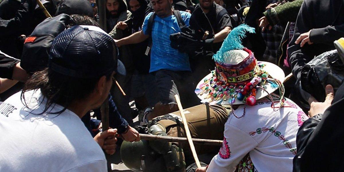 Carabinero fue herido en Marcha por Resistencia Mapuche: diez detenidos por desórdenes