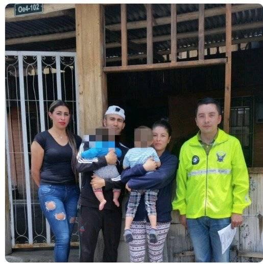 Niña embarazada rescatada en Colombia se reúne con su familia en Ecuador