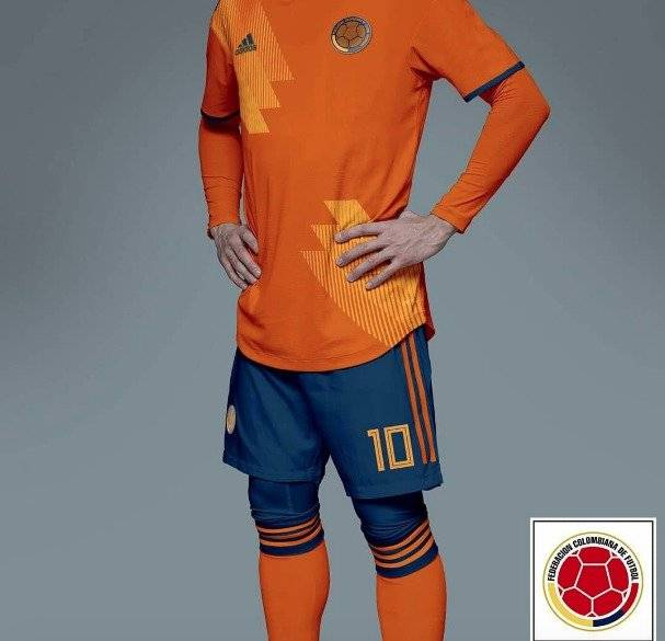 Camiseta naranja de Colombia para 2019